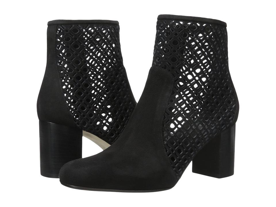 Aquatalia - Enid (Black Suede) Women's Zip Boots