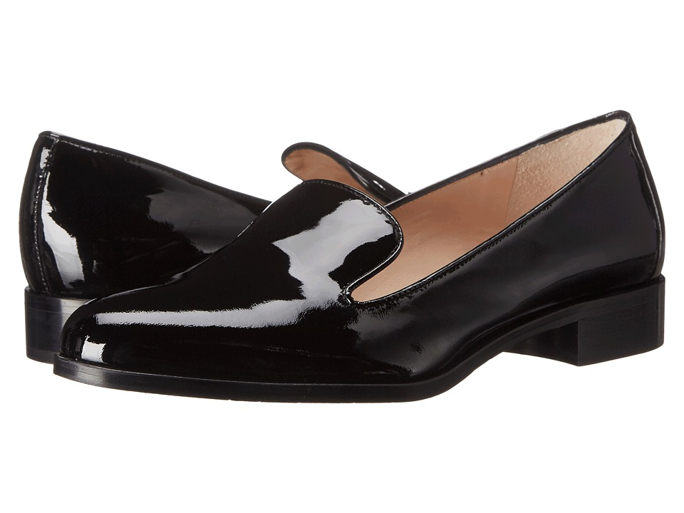 Aquatalia - Yanina (Black Patent) Women's Slip-on Dress Shoes