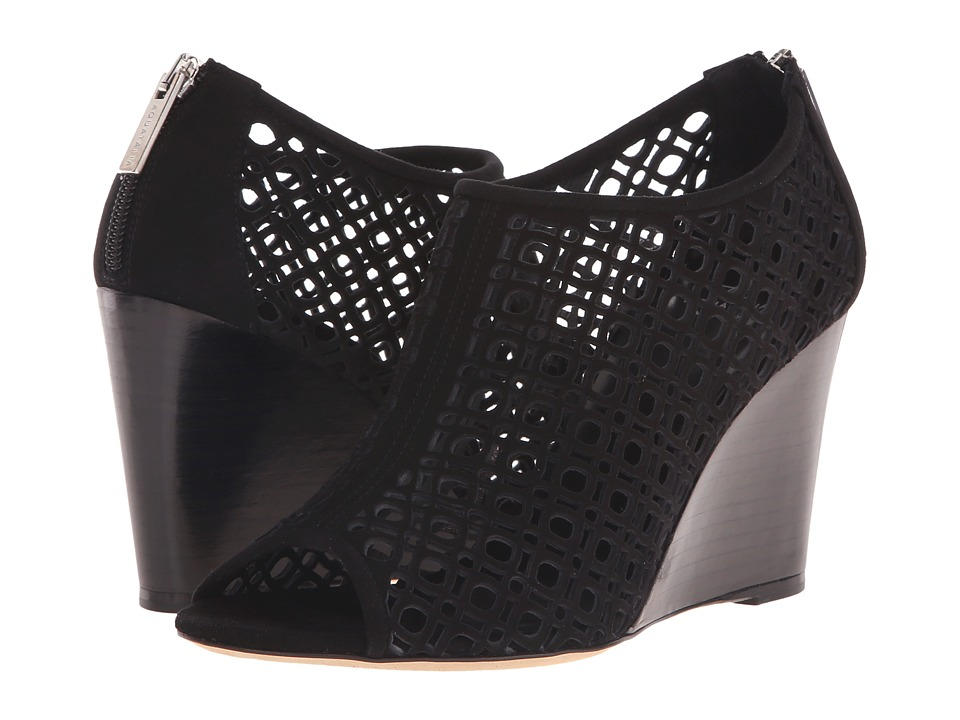 Aquatalia - Shelly (Black Suede) Women's Wedge Shoes