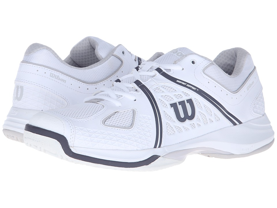 Wilson - Nvision (White/Gray/Coal) Men's Tennis Shoes