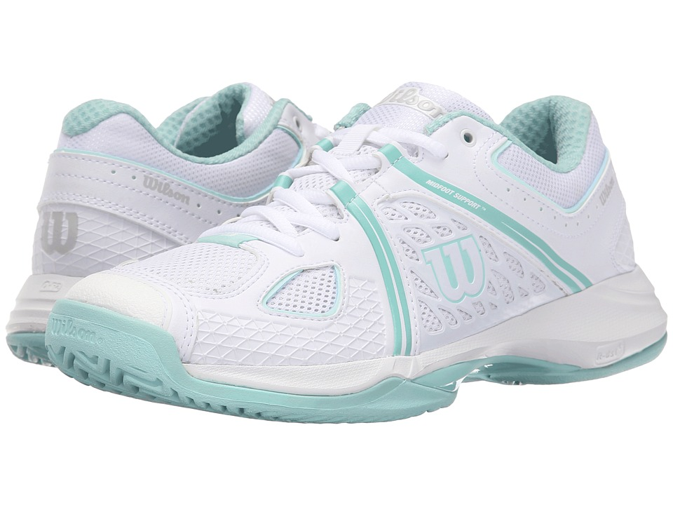 Wilson - Nvision (White/Aruba Blue/Mint Ice) Women's Tennis Shoes
