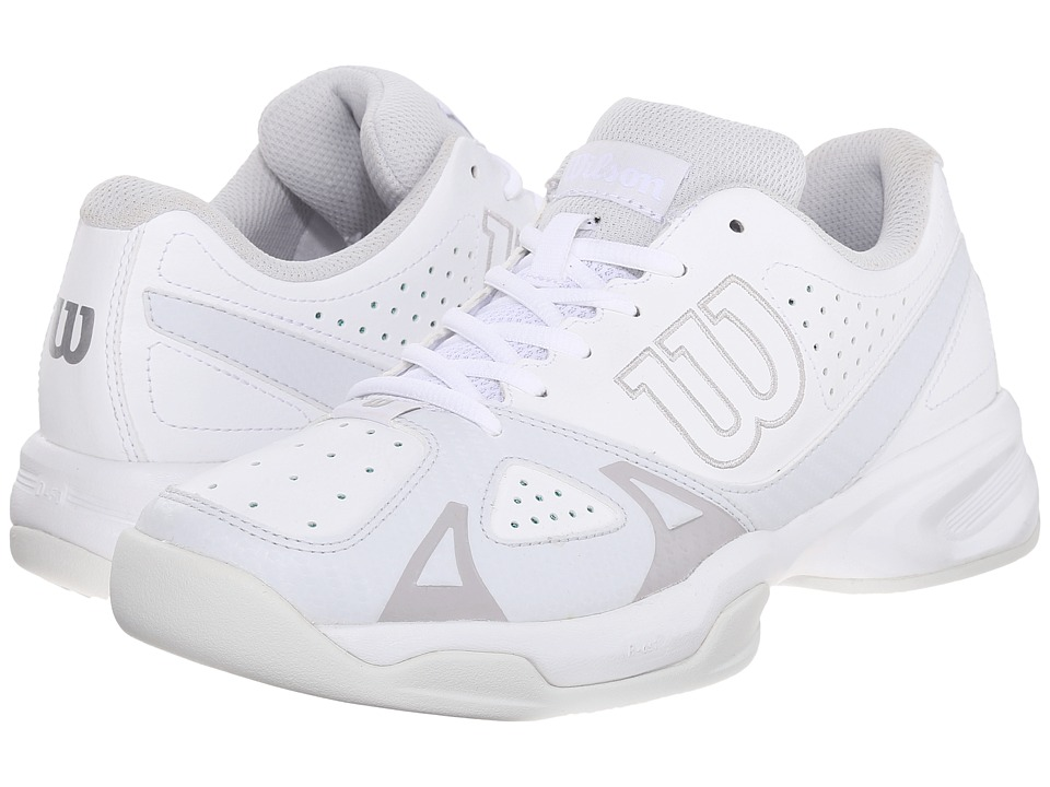 Wilson - Rush Open 2.0 (White/Ice Gray) Women's Tennis Shoes