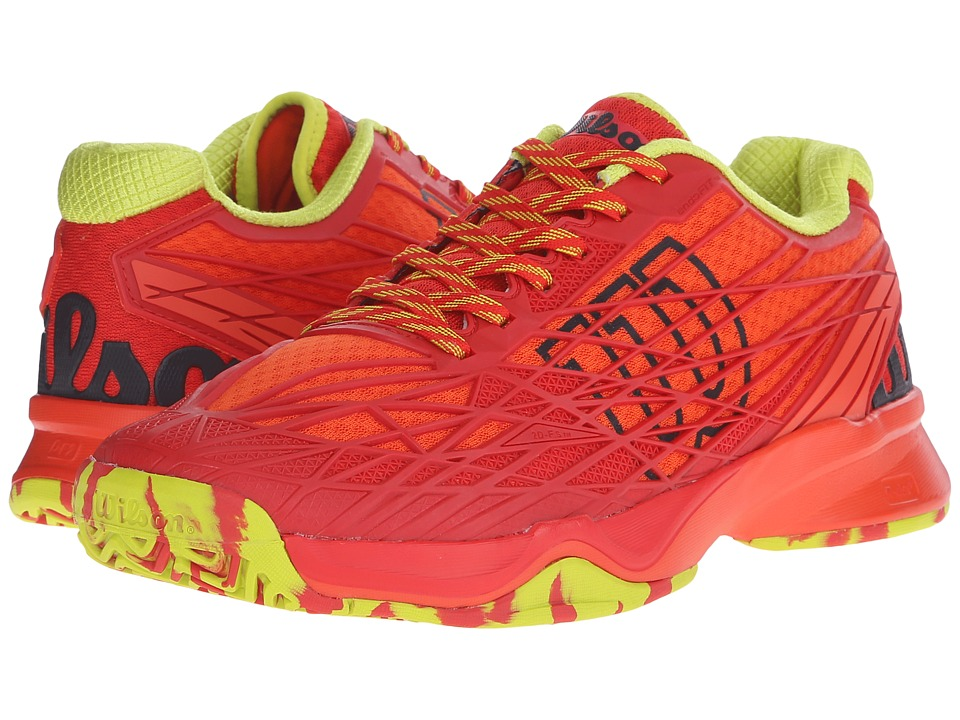 Wilson - Kaos (Red/Solar Lime) Men's Tennis Shoes