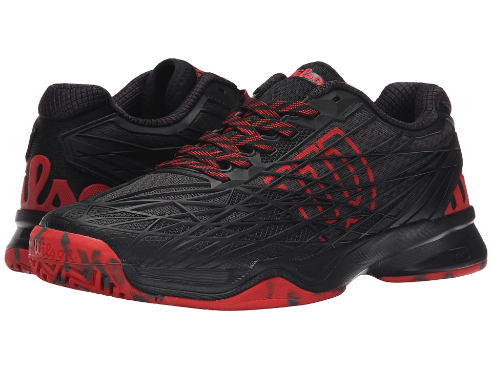 Wilson - Kaos (Black/Black/Red) Men's Tennis Shoes