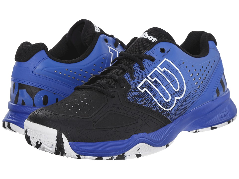 Wilson - Kaos Comp (Black/Blue Iris/White) Men's Tennis Shoes