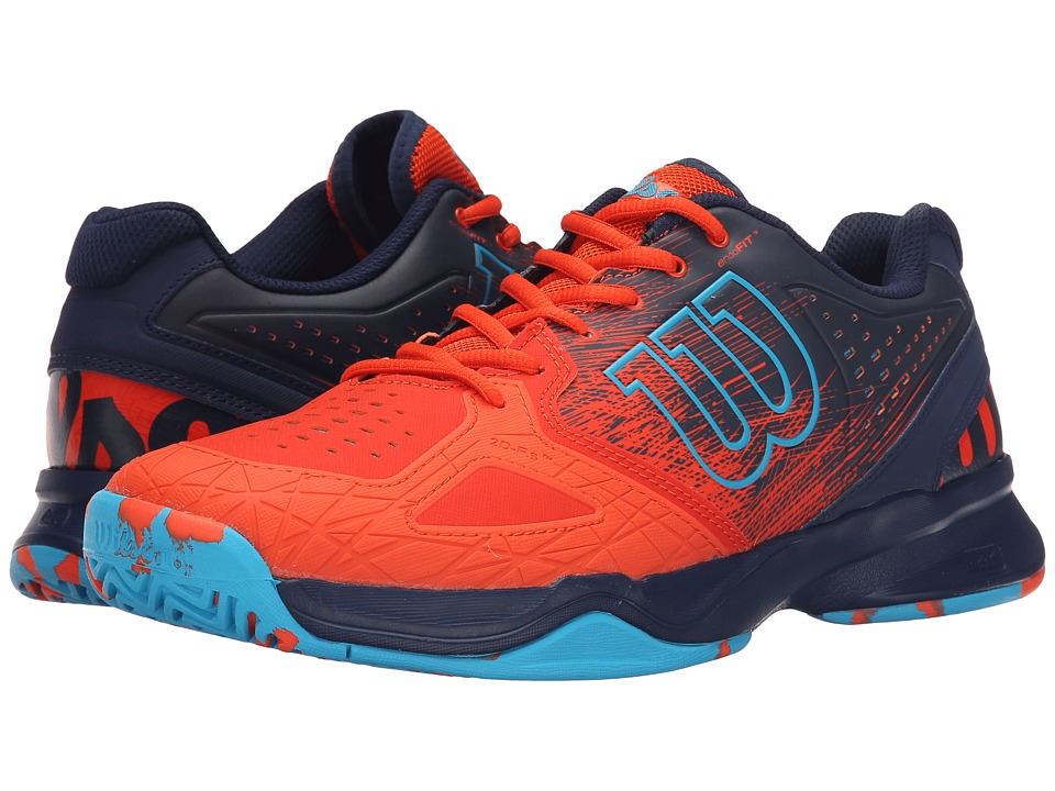 Wilson - Kaos Comp (Red/Navy/Suba Blue) Men's Tennis Shoes