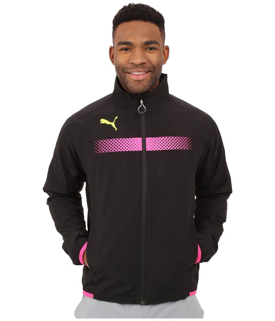 PUMA - IT evoTRG Track Jacket (Black/Pink Glo) Men's Jacket