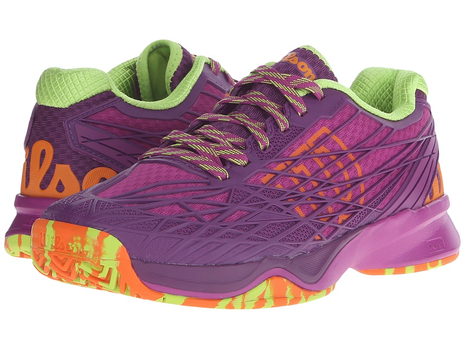 Wilson - Kaos (Pink/Dark Plumberry/Green) Women's Tennis Shoes