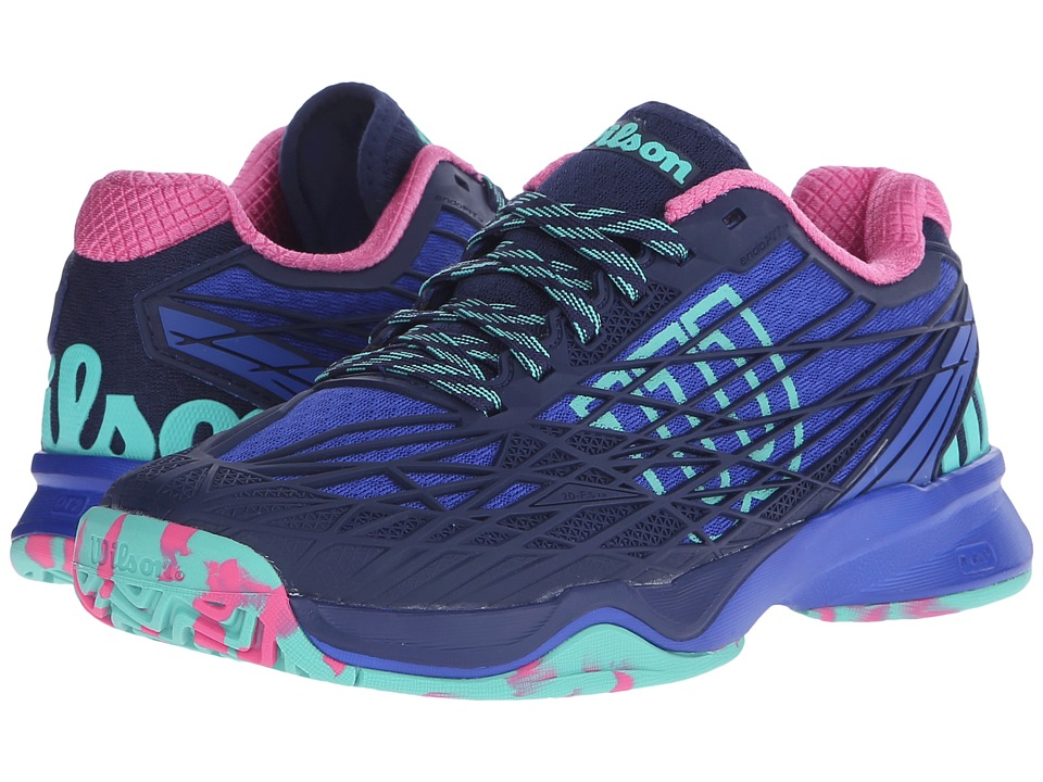Wilson - Kaos (Blue Iris/Navy/Pink) Women's Tennis Shoes