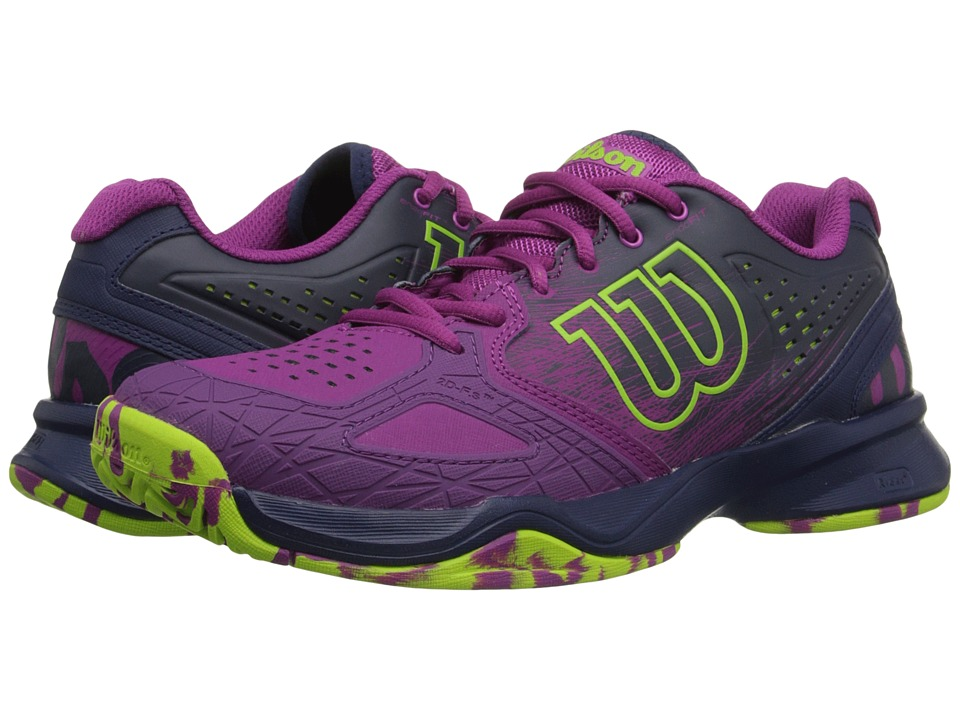 Wilson - Kaos Comp (Pink/Navy/Green) Women's Tennis Shoes