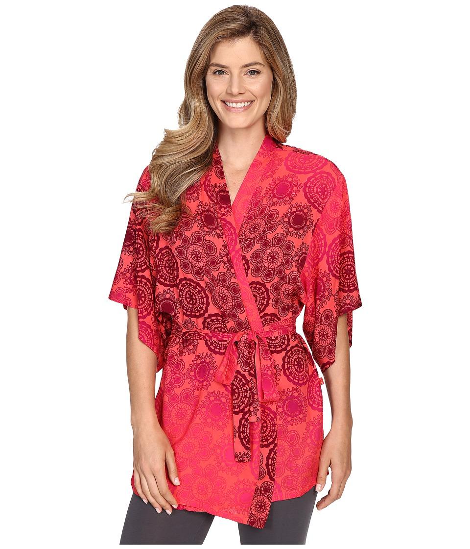Josie - Pinwheels Wrap (Coral) Women's Pajama