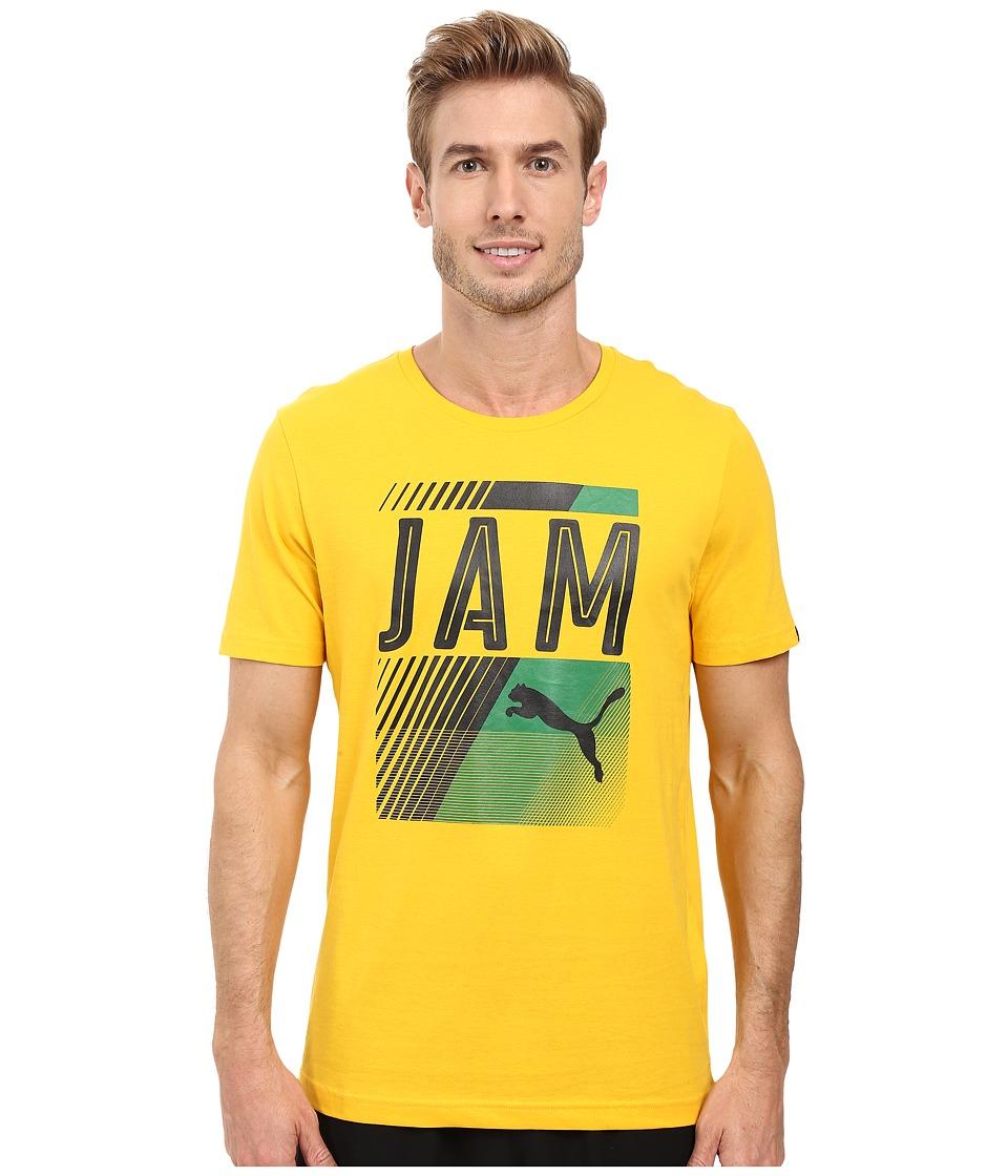 PUMA - Fan Tee (Spectra Yellow/Jamaica) Men's T Shirt
