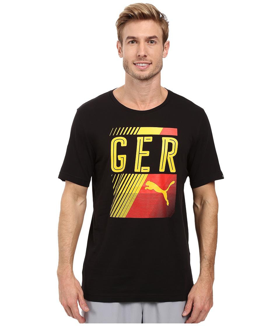 PUMA - Fan Tee (Black/Germany) Men's T Shirt