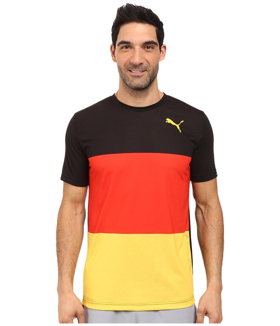 PUMA - Fan Wow Tee (Black - Germany) Men's T Shirt
