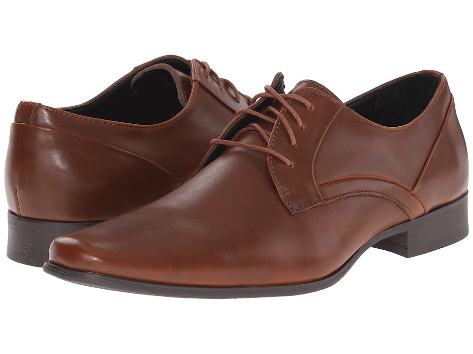 Calvin Klein - Benton (British Tan Textured Leather) Men's Shoes