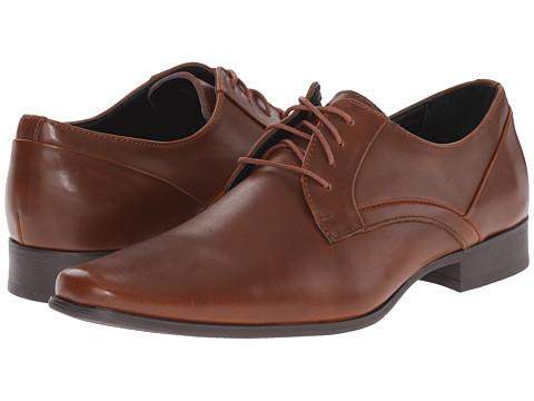 Calvin Klein - Benton (British Tan Textured Leather) Men's Shoes
