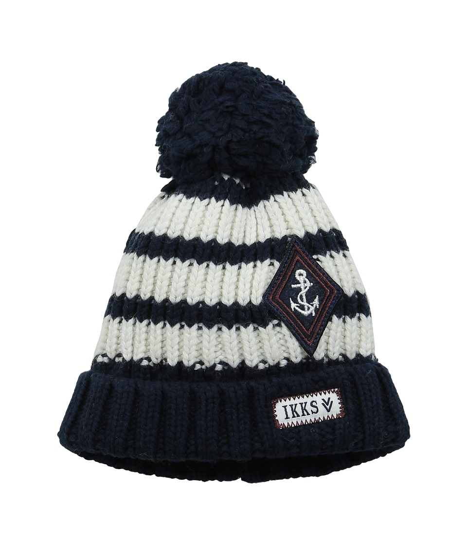 IKKS - Striped Knit Beanie (Big Kids) (Encre) Beanies