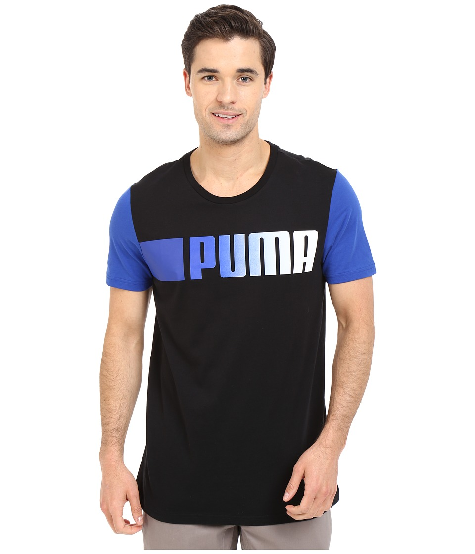 PUMA - Running Logo Tee (Black) Men's T Shirt