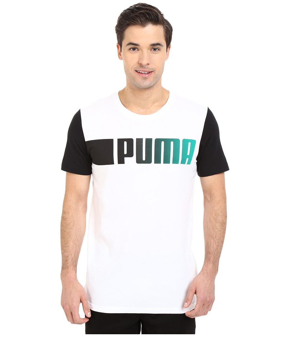 PUMA - Running Logo Tee (White) Men's T Shirt