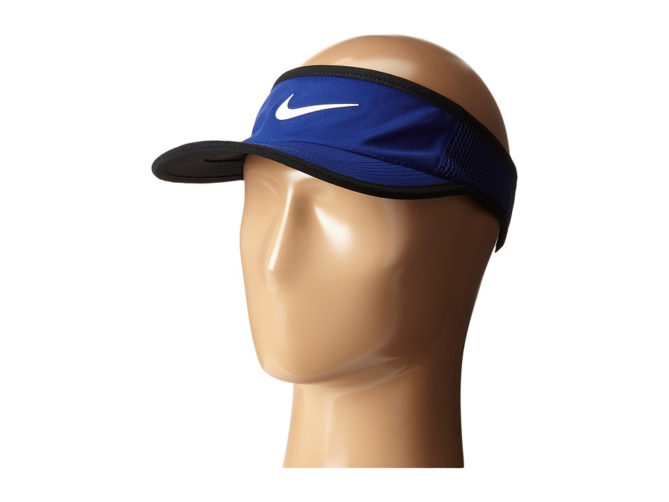 Nike - Featherlight Visor (Deep Royal Blue/Black/White) Casual Visor