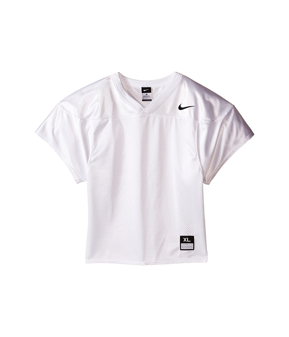 Nike Kids - Core Practice Football Jersey (Big Kids) (Team White/Team Black) Boy's Clothing