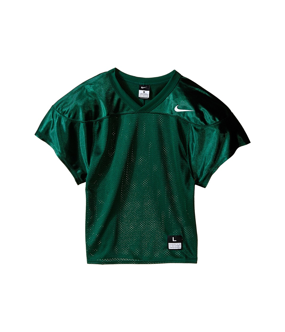 Nike Kids - Core Practice Football Jersey (Big Kids) (Team Dark Green/Team White) Boy's Clothing