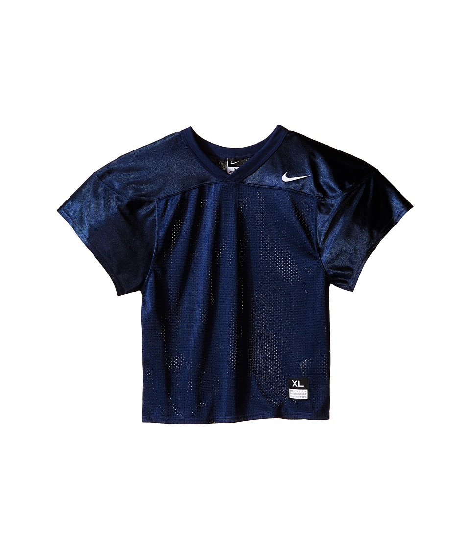Nike Kids - Core Practice Football Jersey (Big Kids) (Team Navy/Team White) Boy's Clothing