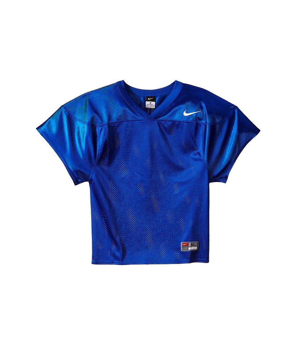 Nike Kids - Core Practice Football Jersey (Big Kids) (Team Royal/Team White) Boy's Clothing