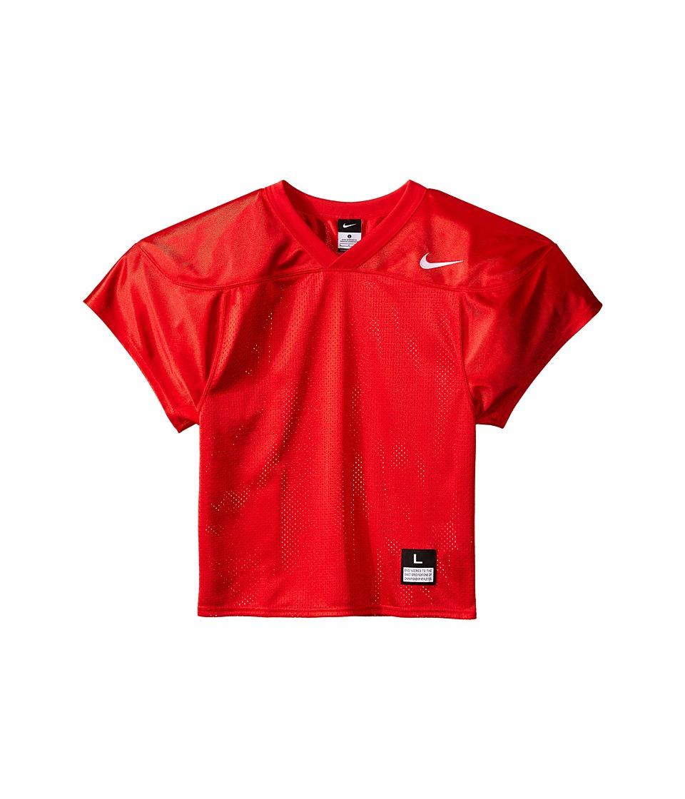 Nike Kids - Core Practice Football Jersey (Big Kids) (Team Scarlet/Team White) Boy's Clothing