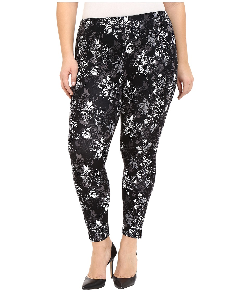 Lysse - Plus Size Audrey Ankle (Plam Stencil Black) Women's Casual Pants