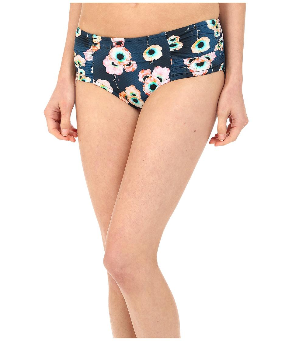 Seafolly - Cabana Rose Rouched Side Retro (Indigo) Women's Swimwear
