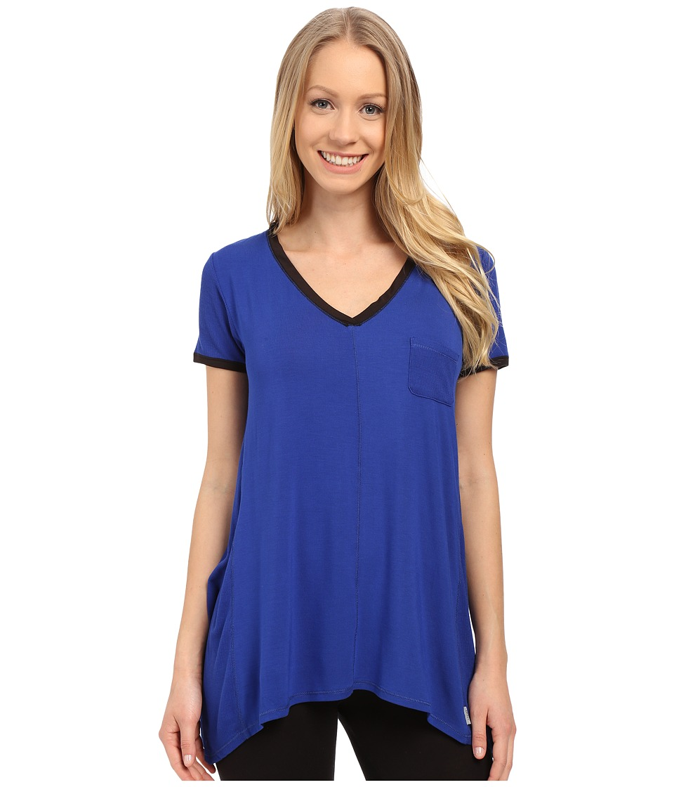 DKNY - Urban Essentials Short Sleeve Top (Lapis) Women's Pajama