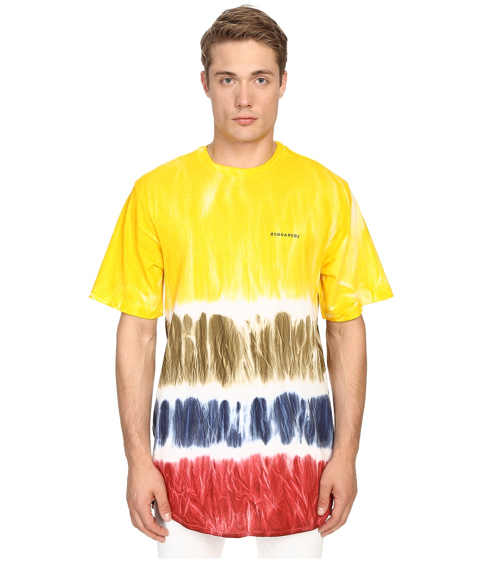 DSQUARED2 Trapezio Fit Tie-Dye Tee (Mix Colors) Men