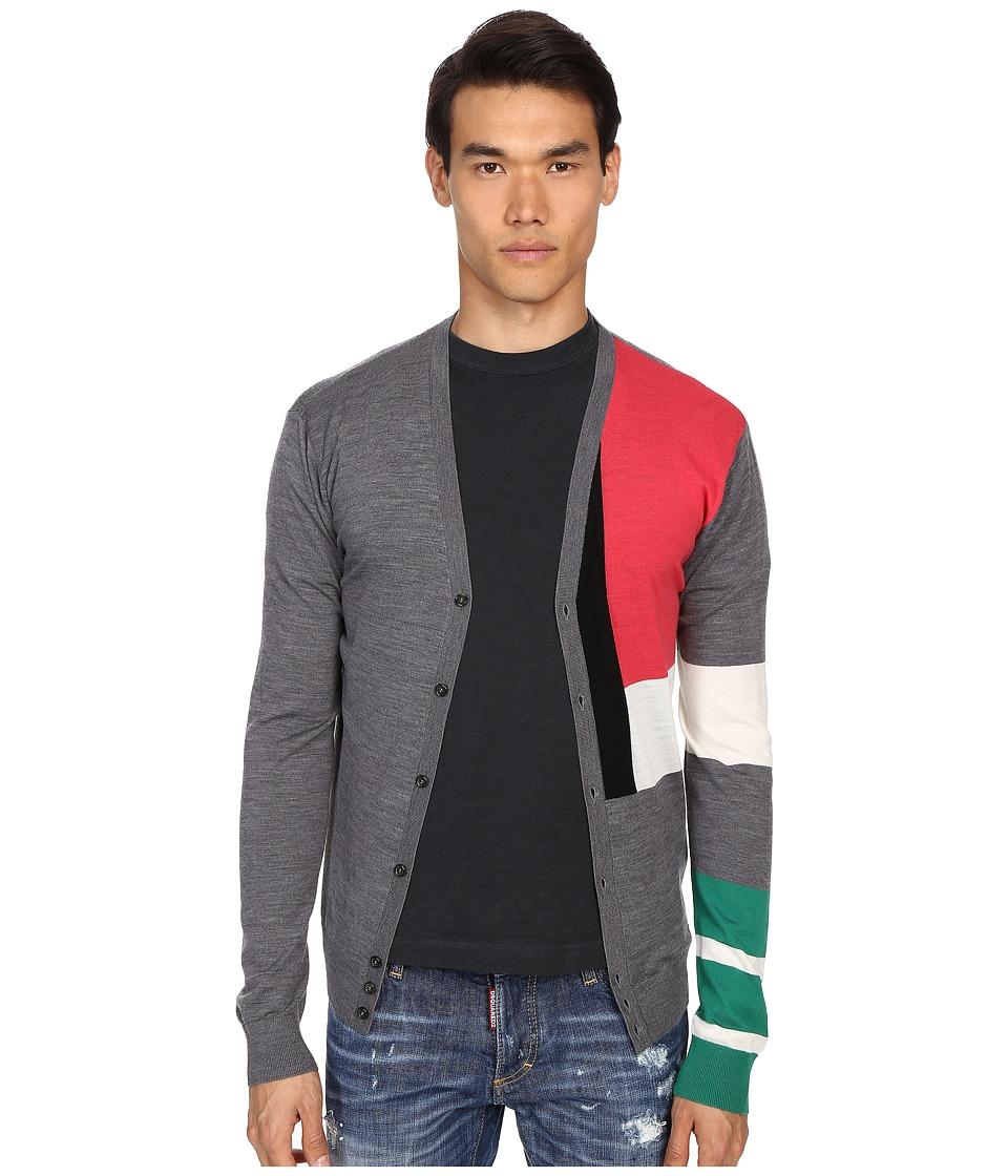 DSQUARED2 - Techno Color Block Pullover (Fantasy Intarsio) Men's Sweater
