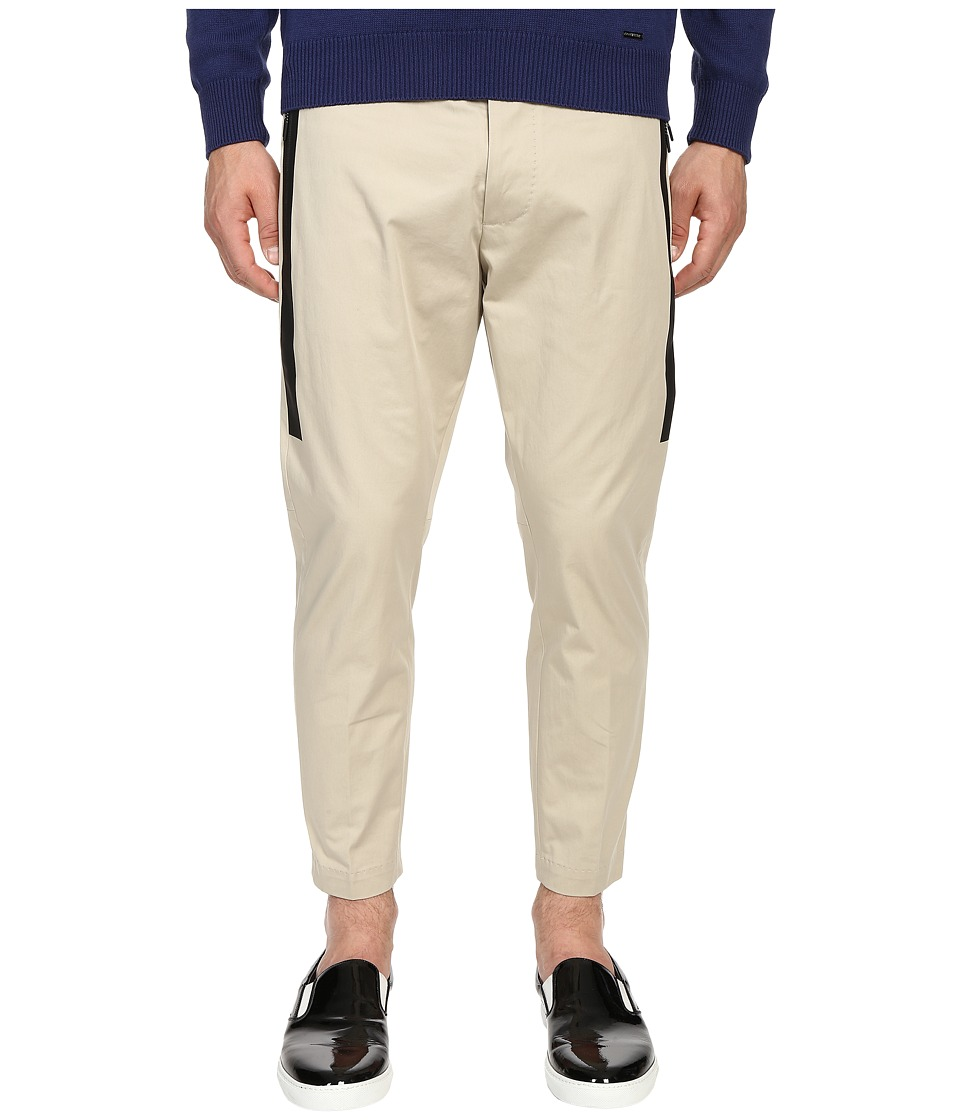 DSQUARED2 - Hockney Pants with Tux Detailing (Stone) Men's Casual Pants