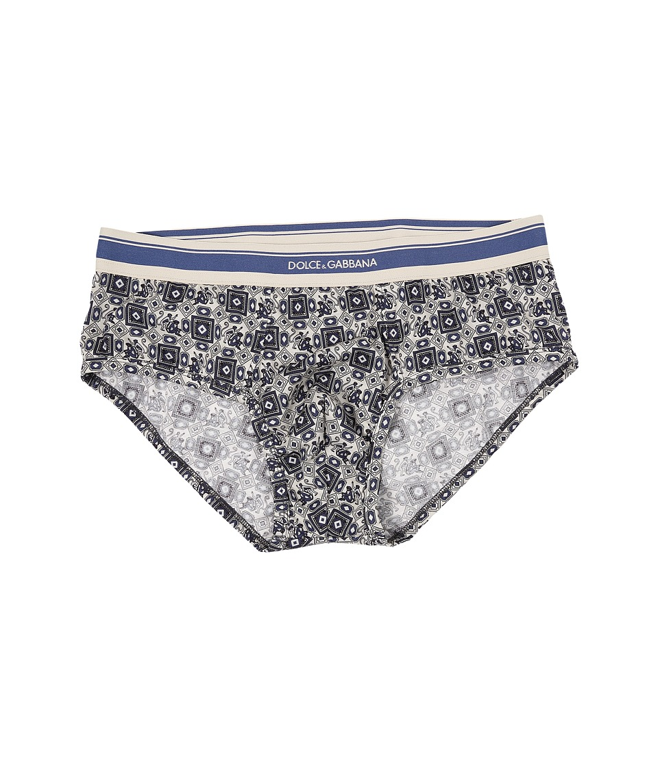 Dolce & Gabbana - Brando Brief (Tie Print Monkeys) Men's Underwear