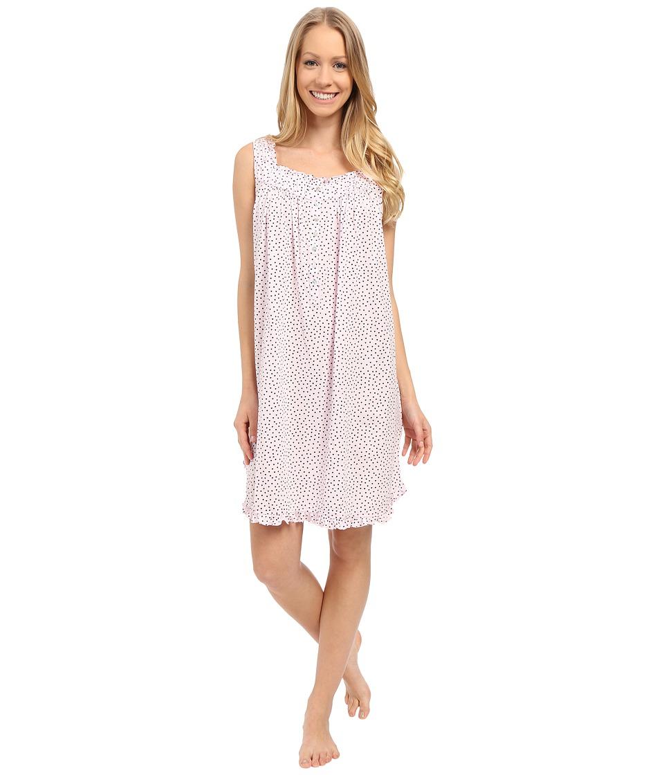 Eileen West - Happy Heart Chemise (Pink Ground/Tiny Hearts) Women's Pajama