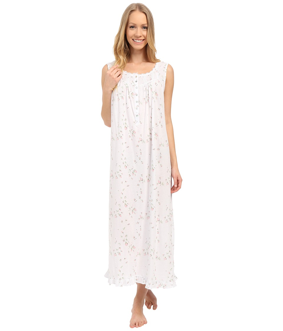 Eileen West - Rosebud Bliss Ballet Nightgown (White Ground Rosebud) Women's Pajama