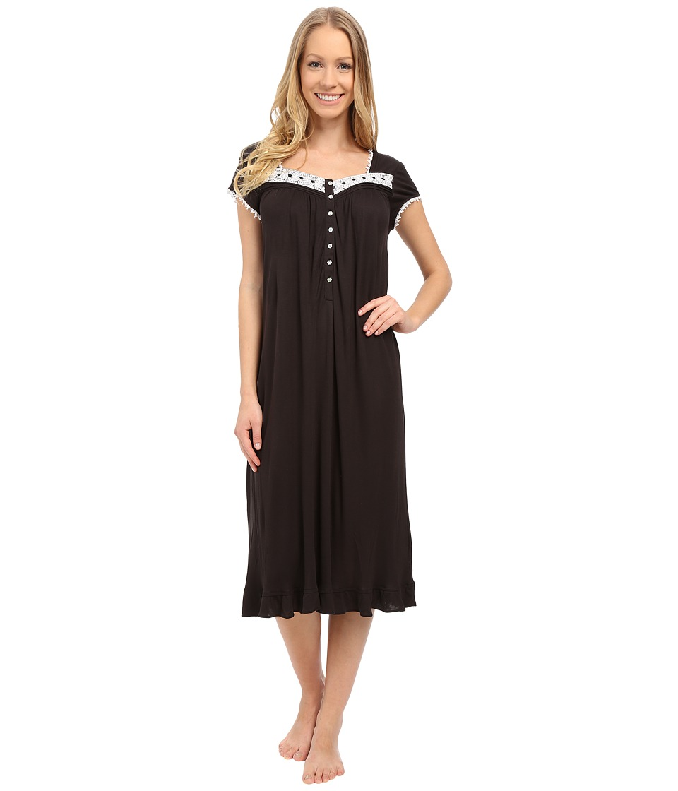 Eileen West - Group Waltz Nightgown (Black) Women's Pajama