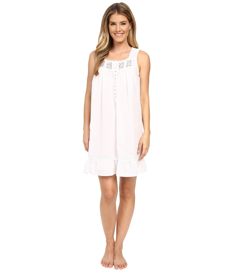 Eileen West - Timeless Chemise (Solid White) Women's Pajama