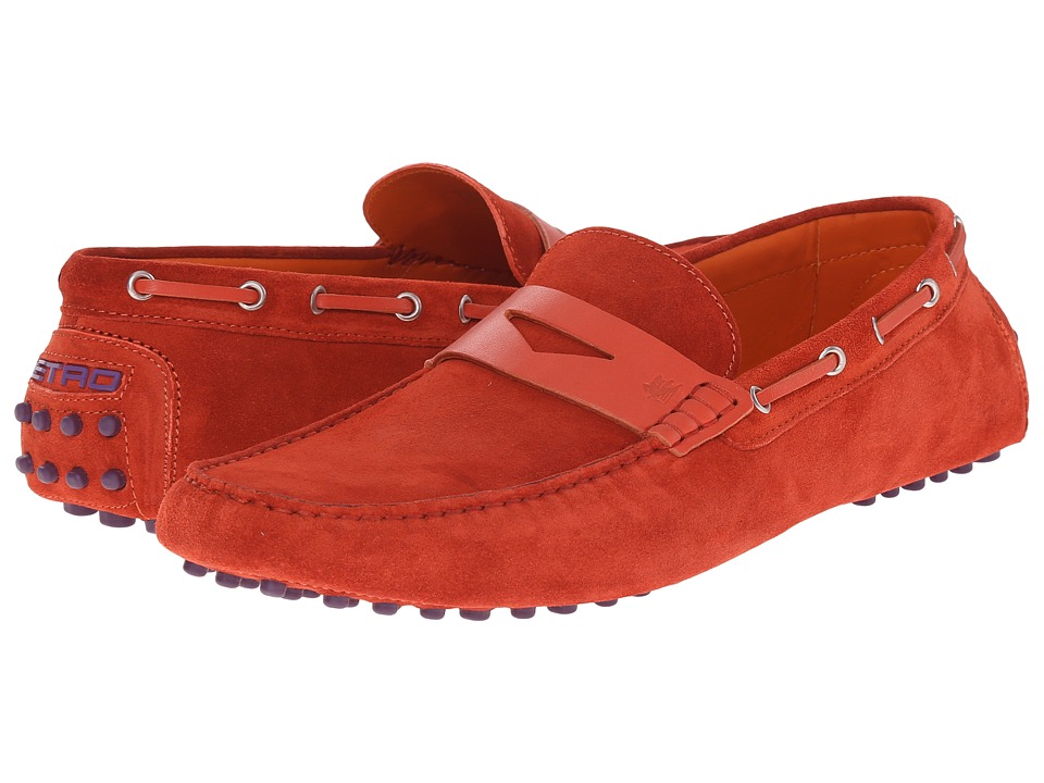 Etro - Suede Penny Loafer Mocassin (Red) Men's Slip on Shoes