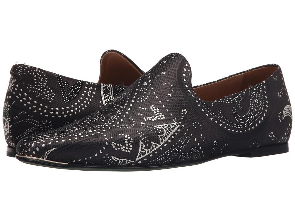 Etro - Paisley Dot Evening Slipper (Black) Men's Slip on Shoes