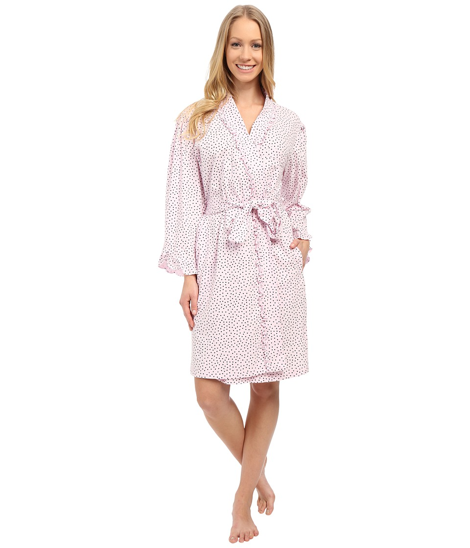 Eileen West - Happy Heart Robe (Pink Ground/Tiny Hearts) Women's Robe