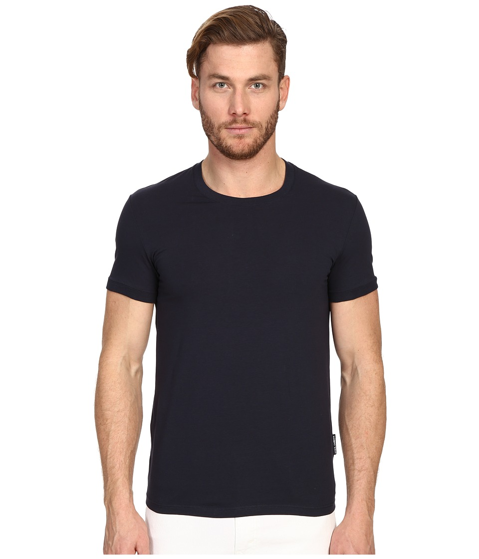 Dolce & Gabbana - Pure R-Neck T-Shirt (Blue Navy) Men's T Shirt