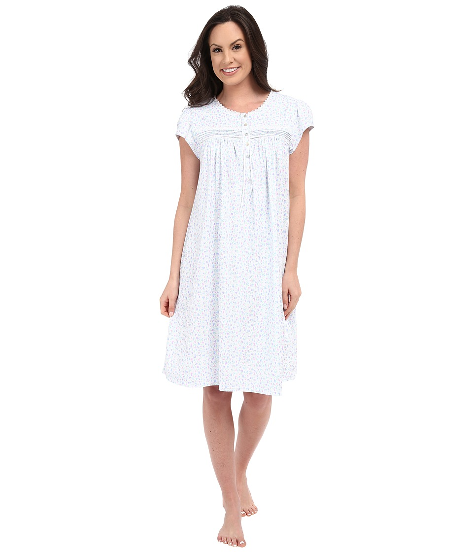Eileen West - Group Short Nightgown (White Ground/Tiny Tulip) Women's Pajama