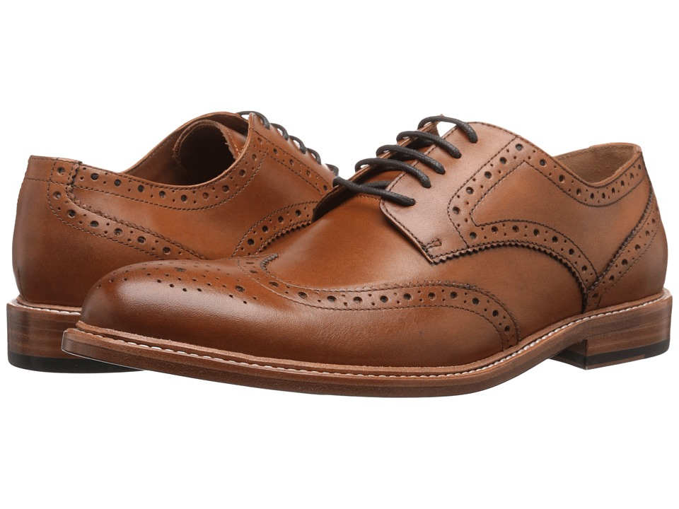 Gordon Rush - Baines (Tan) Men's Lace Up Wing Tip Shoes