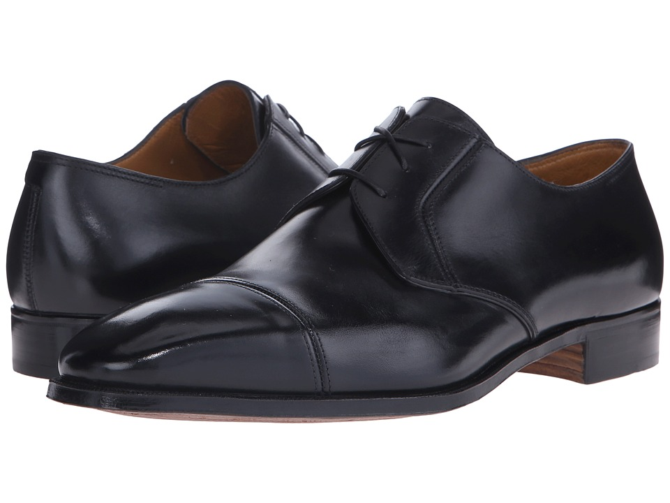 Gravati - Scottish Calf 3-Eyelet Cap Toe (Black) Men's Lace Up Cap Toe Shoes