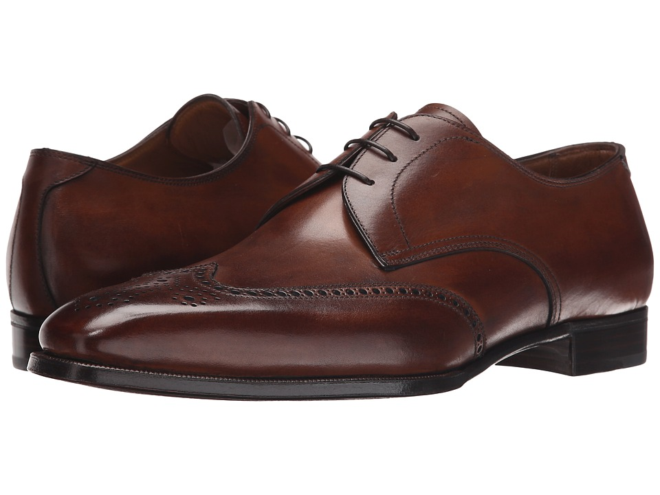 Gravati - Antique Calf 3-Eyelet Wingtip Blucher (Chestnut) Men's Lace Up Wing Tip Shoes