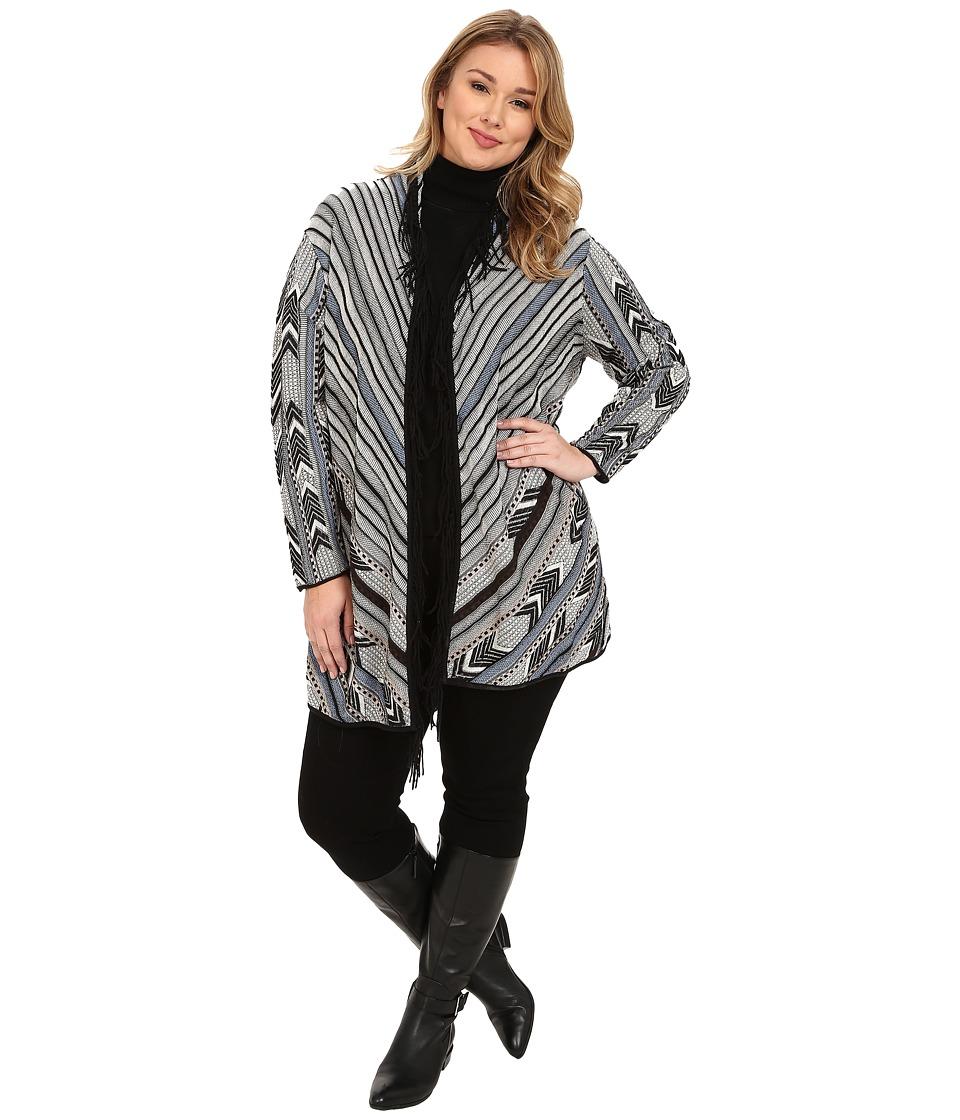 NIC+ZOE - Plus Size Dashing Cardy (Multi) Women's Sweater