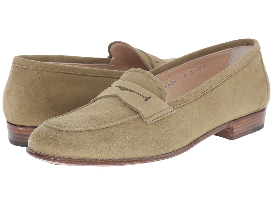 Gravati - Velukid Penny Loafer (Sage) Women's Slip on Shoes